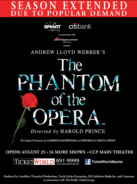 The Phantom of the Opera (is there, inside your mind)